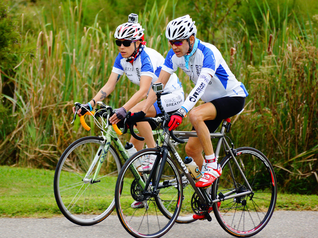 Cystic Fibrosis Podcast 135: Jerry and Em Bike to Breathe