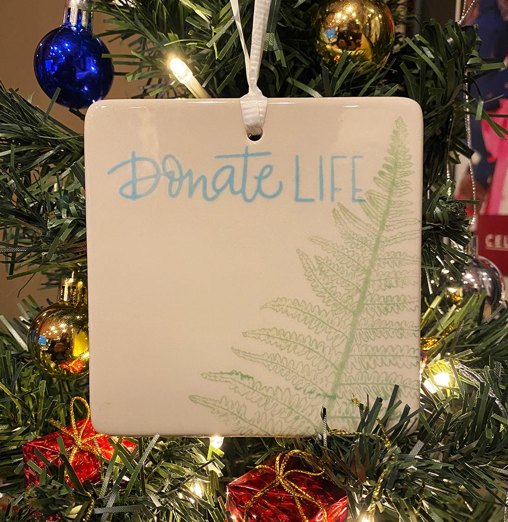 Donate Life Holiday Ornaments